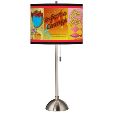Retro Diner Giclee Contemporary Table Lamp