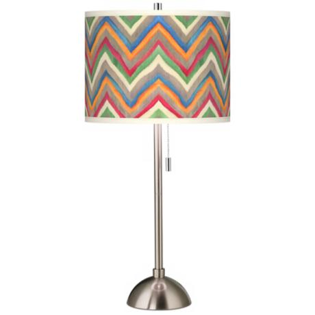 Canyon Waves Giclee Contemporary Table Lamp