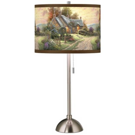 Thomas Kinkade A Peaceful Time Table Lamp