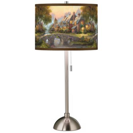 Thomas Kinkade Cobblestone Bridge Table Lamp