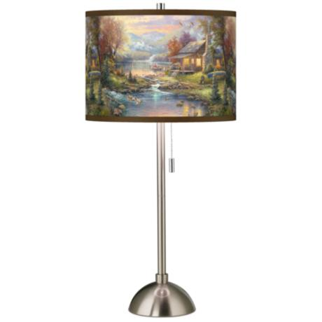 Thomas Kinkade Nature's Paradise Table Lamp