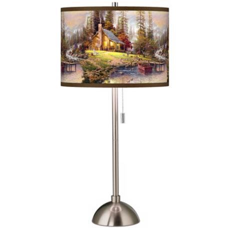 Thomas Kinkade A Peaceful Retreat Table Lamp