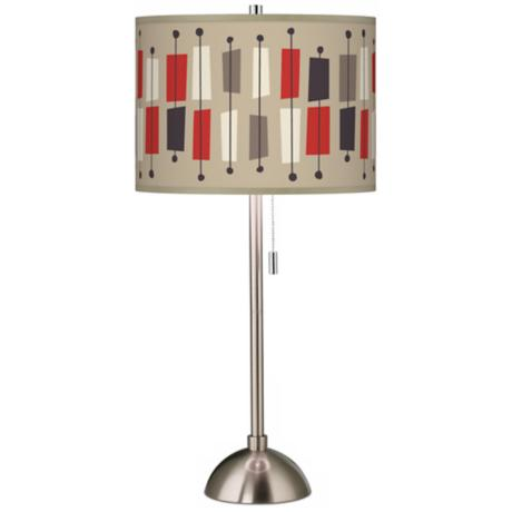 Bounce Giclee Brushed Steel Table Lamp