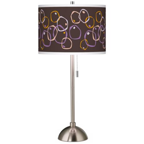 Linger Giclee Brushed Steel Table Lamp