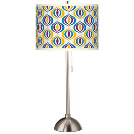 Scatter Giclee Brushed Steel Table Lamp