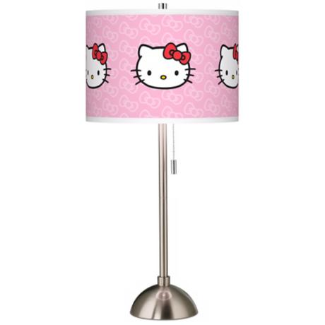 Hello Kitty Classic Brushed Steel Table Lamp