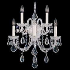 "Schonbek Olde World Collection 23"" High Crystal Wall Sconce"