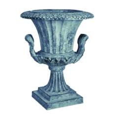 "18"" High Williamsburg Verdigris Finish Urn Garden Statuary"