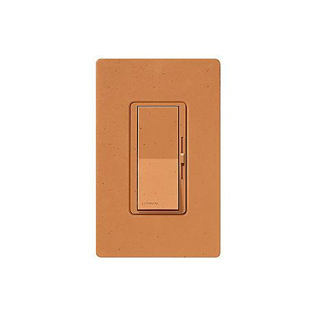 Lutron Diva SC 600W Single Pole Terracotta Red Brown Dimmer