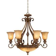 "Kathy Ireland Sterling Estate 34 1/2"" Wide Chandelier"