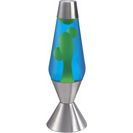 Blue and Yellow Official Large Lava® Lamp