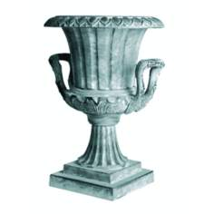 "23"" High Williamsburg Urn with Handles Garden Statuary"