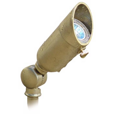Cast Brass Mini Bullet Low Voltage Landscape Light