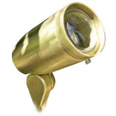 "Cast Brass Bullet 4 3/4"" Low Voltage Landscape Light"