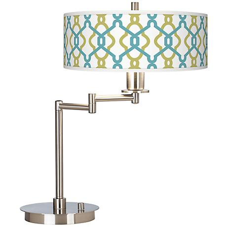 Hyper Links Giclee CFL Swing Arm Desk Lamp