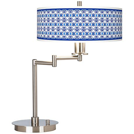 Indigo Path Giclee CFL Swing Arm Desk Lamp