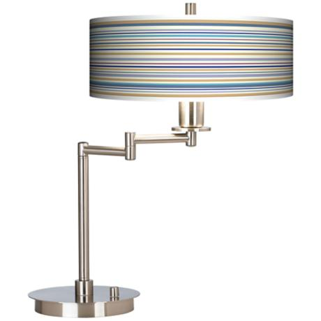 Stacy Garcia Landscape Stripe Giclee CFL Swing Arm Desk Lamp
