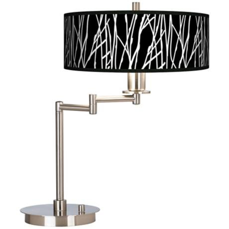 Stacy Garcia Twiggy Black Giclee CFL Swing Arm Desk Lamp
