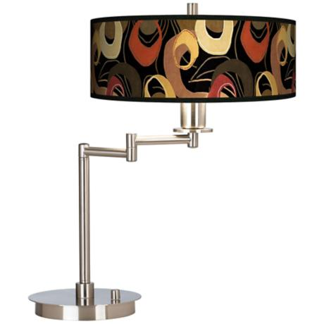 Rhythm Motif Giclee CFL Swing Arm Desk Lamp