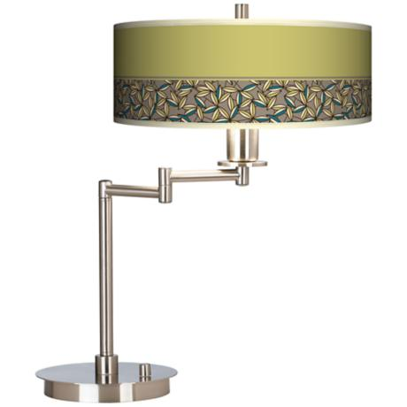 Floral Chorus Giclee CFL Swing Arm Desk Lamp