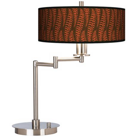 Stacy Garcia Fancy Fern Coral Giclee CFL Swing Arm Desk Lamp