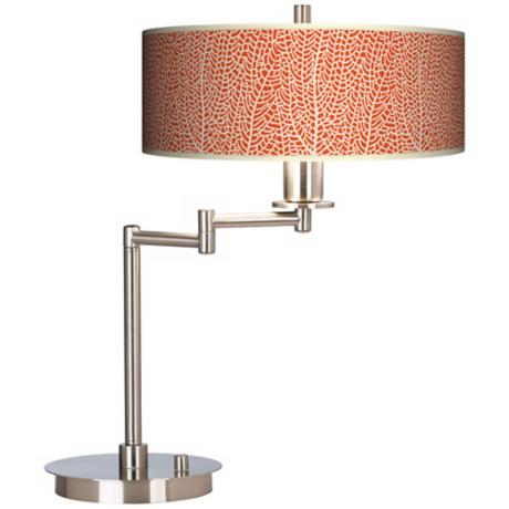 Stacy Garcia Seafan Coral Giclee CFL Swing Arm Desk Lamp