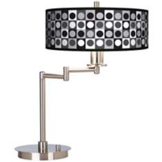 Black and Grey Dotted Squares Energy Efficient Desk Lamp