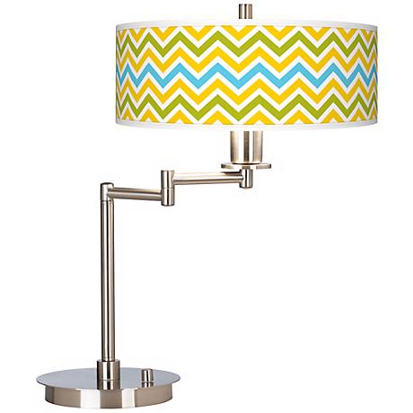 Citrus Zig Zag Giclee CFL Swing Arm Desk Lamp