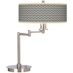 Zig Zag Giclee CFL Swing Arm Desk Lamp