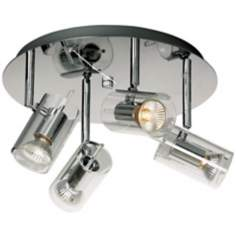 "Flash Chrome 4-Light 15 1/2"" Wide Ceiling Light"