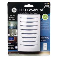 LED CoverLite White Finish Outlet Cover Night Light