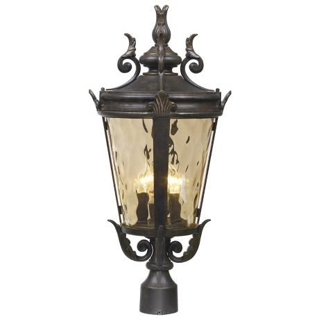"Casa Marseille™ Collection 25"" High Outdoor Post Lamp"