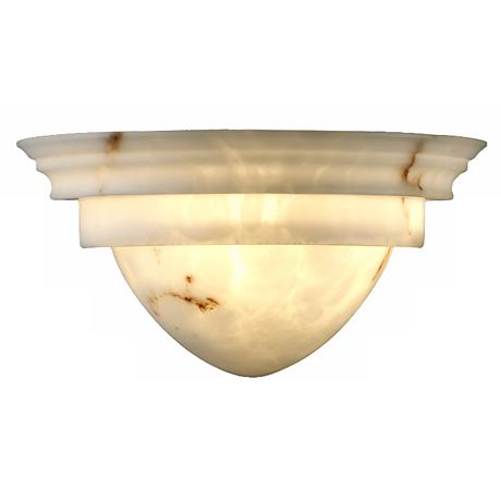 Faux Alabaster Classic Wall Sconce