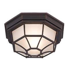 "Dark Rust 11"" Wide Ceiling Light Fixture"