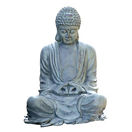 "Large Size 21 1/2"" High Garden Buddha Statuary"
