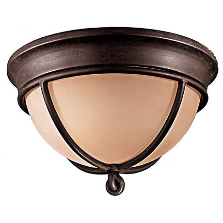"Minka Knotted Iron 12"" Wide Ceiling Light Fixture"