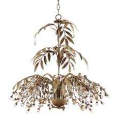 Antique Brown Fountain Leaves Chandelier