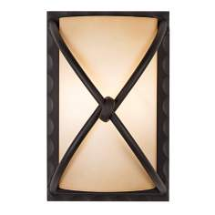 "Minka Knotted Iron 9 1/4"" High Pocket Wall Sconce"