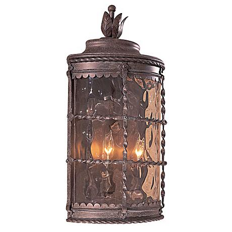 "Mallorca 19 1/2"" High Vintage Rust Finish Outdoor Wall Light"
