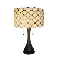 Geo Hex Mission Tiffany Style Table Lamp