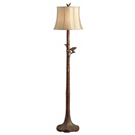 Perched Bird Tree Floor Lamp