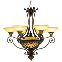 "Stirling Castle Collection 36"" Wide Seven-Light Chandelier"