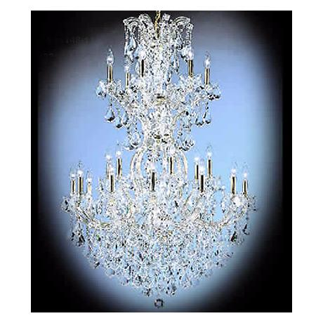 James R. Moder Maxfield Gold Crystal Chandelier