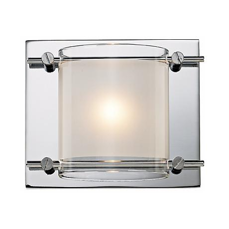 "Possini Euro Glass Bands Collection 5 3/4"" Wide Wall Sconce"