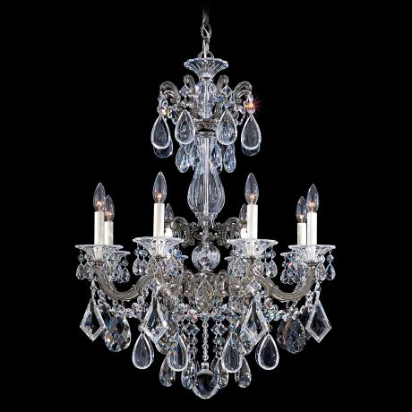 "Schonbek La Scala Collection 25"" Wide Crystal Chandelier"