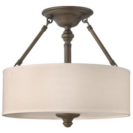 "Sussex Collection English Bronze 16"" Wide Ceiling Light"