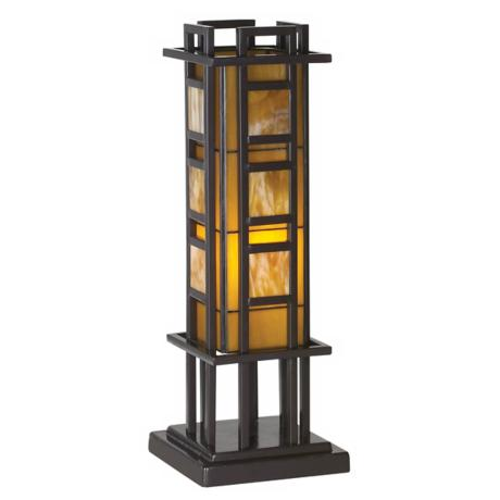 Prairie Style Pillar Accent Table Lamp