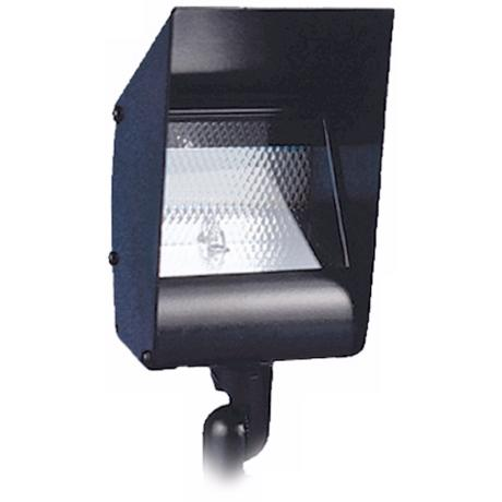 Hooded Black Outdoor Landscape Floodlight