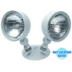 Dual Head Wet Location 7.2 Watt Remote Emergency Light