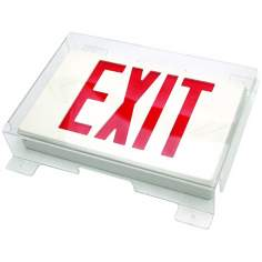 Slim Protective Shield for Exit Signs